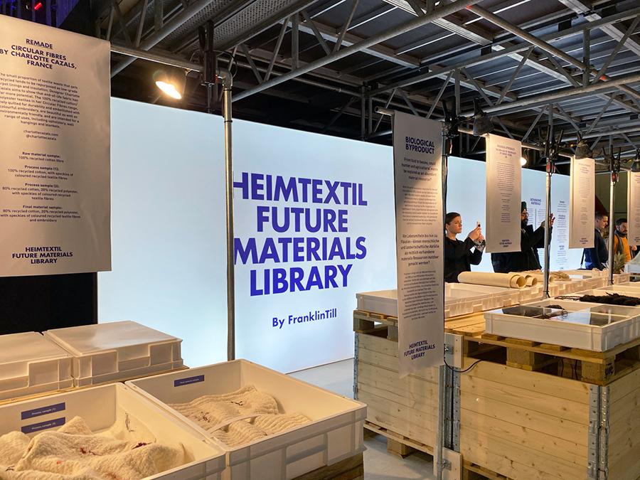 Heimtextil Future Materials Library