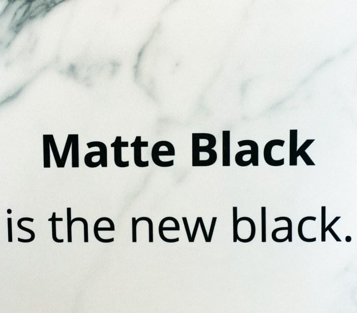 matte black - KBIS 2020