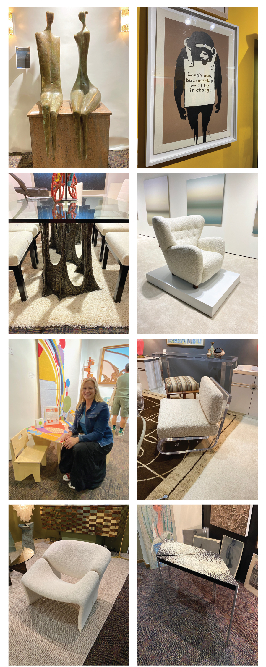 Midcentury modern art and furniture at the Modernism Art Show and Sale - Palm Springs 2020