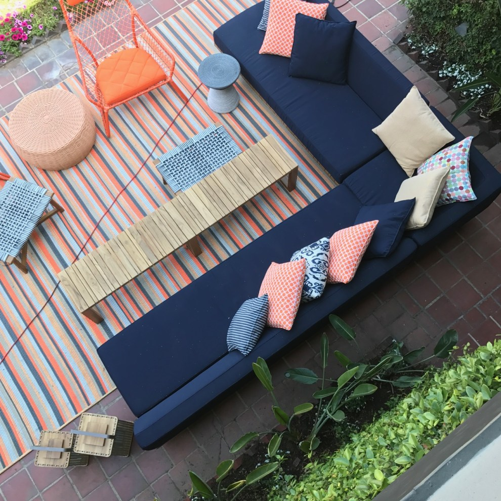 Outdoor living room at the 2017 Pasadena Showcase House. Designer: Tidelli