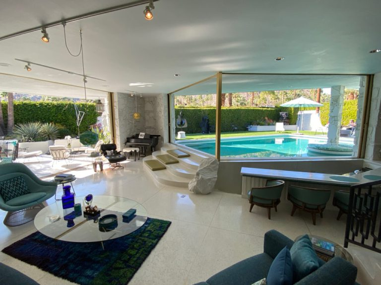 Indoor/outdoor swimming pool - Morse House, Palm Springs