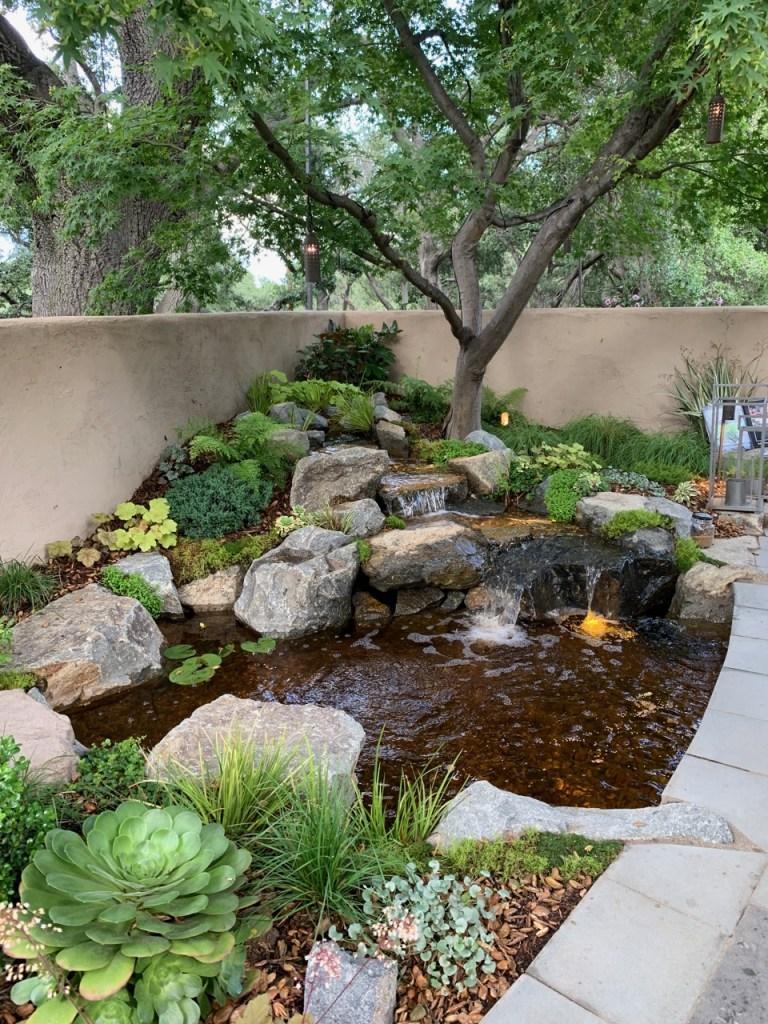 Outdoor pond and stream - La Canada - 2019 Pasadena Showcase House
