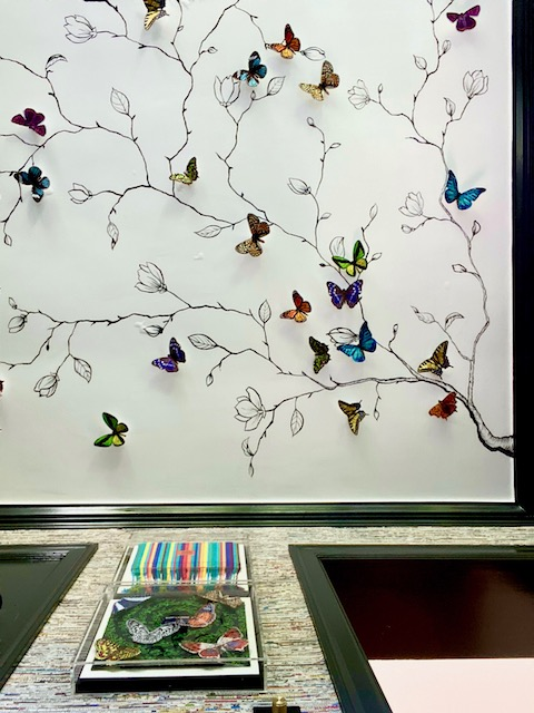 2020 Pasadena Showcase House Breakfast Room Ceiling with butterflies