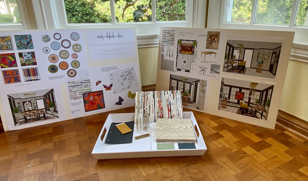 Pasadena Showcase House Breakfast Room presentation boards