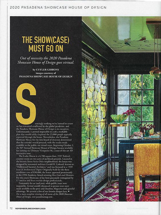 Pasadena Showcase House 2020 Breakfast Room -Pasadena Interior Designer Jeanne K Chung