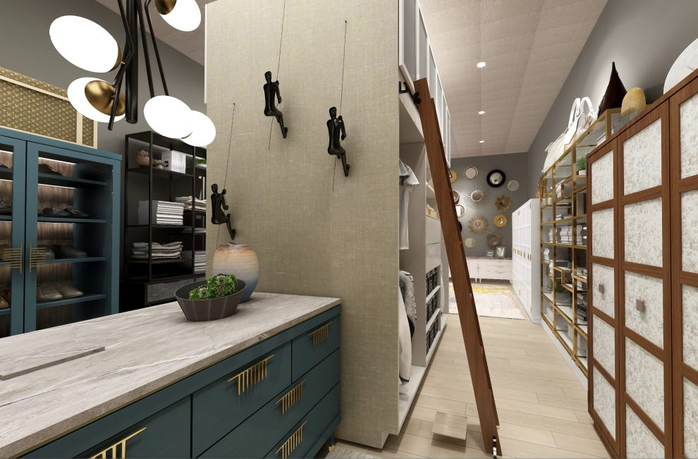 His and hers closet designed by Pasadena interior designer Jeanne K Chung   Cozy Stylish Chic