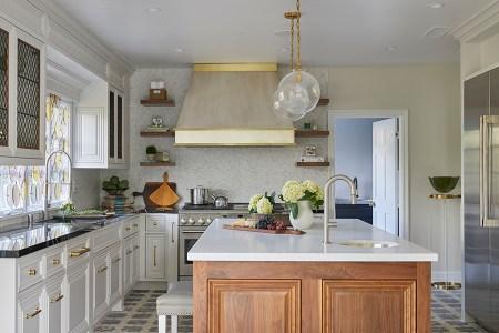 Modern French Regency kitchen