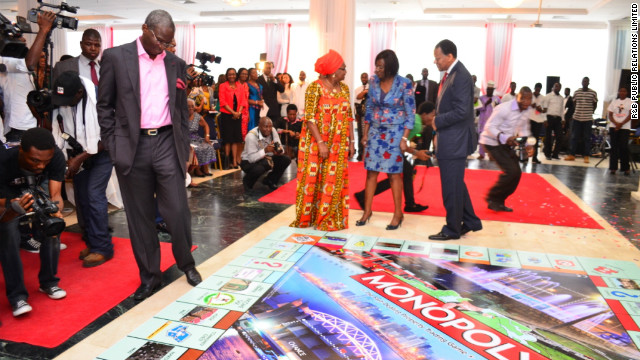 Lagos State's Governor Fashola at the Monopoly unveiling in Lagos