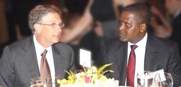Aliko Dangote with Bill Gates at the Forbes 400 Summit on Philanthropy