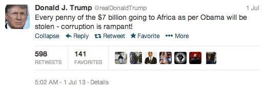 donald trump africa