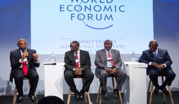 Mr. Tony O. Elumelu, CON speaking at the 2015 World Economic Forum, in Davos, Switzerland He is the Chairman of the group alongside Alhaji Aliko Dangote, the Chairman of Dangote Group