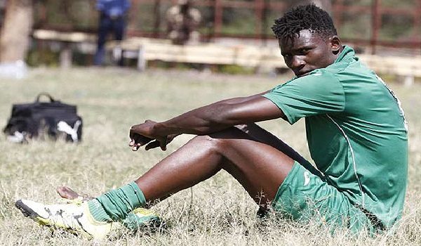 Harambee Stars striker Striker Micheal Olunga. PHOTO | FILE via Nairobi News