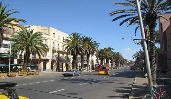 Asmara Main Street, the Capital city pf Eritrea