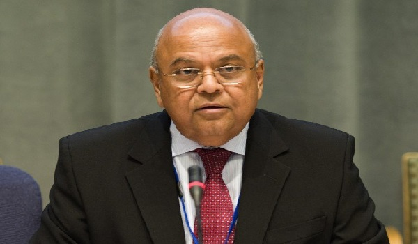 Pravin Gordhan, South Africa's Finance Minister who is a member of the BRICS bank