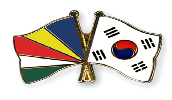 Seychelles & South Korea National Flags
