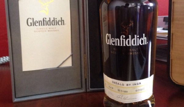 Glenfiddich whiskey bottle by Indalo Décor