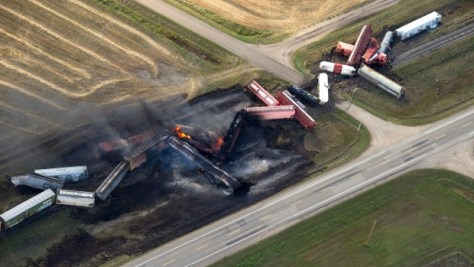 Saskatchewan train derailment