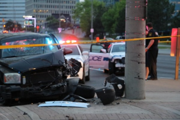 Two in custody after police pursuit ends in crash in ...