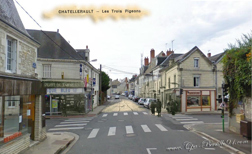 Carte Postale Ancienne De Chtellerault Les Trois