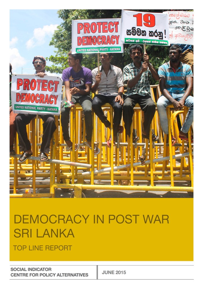 Democracy survey June 2015_cover page