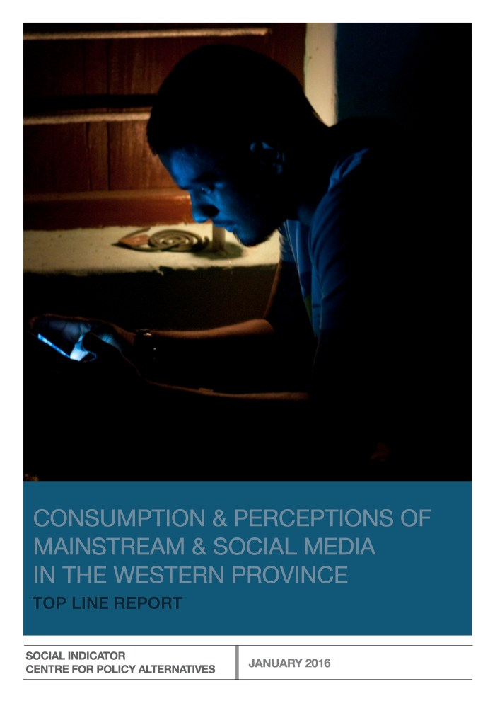Consumption and perceptions of mainstream and social media in the Western Province - FINAL REPORT