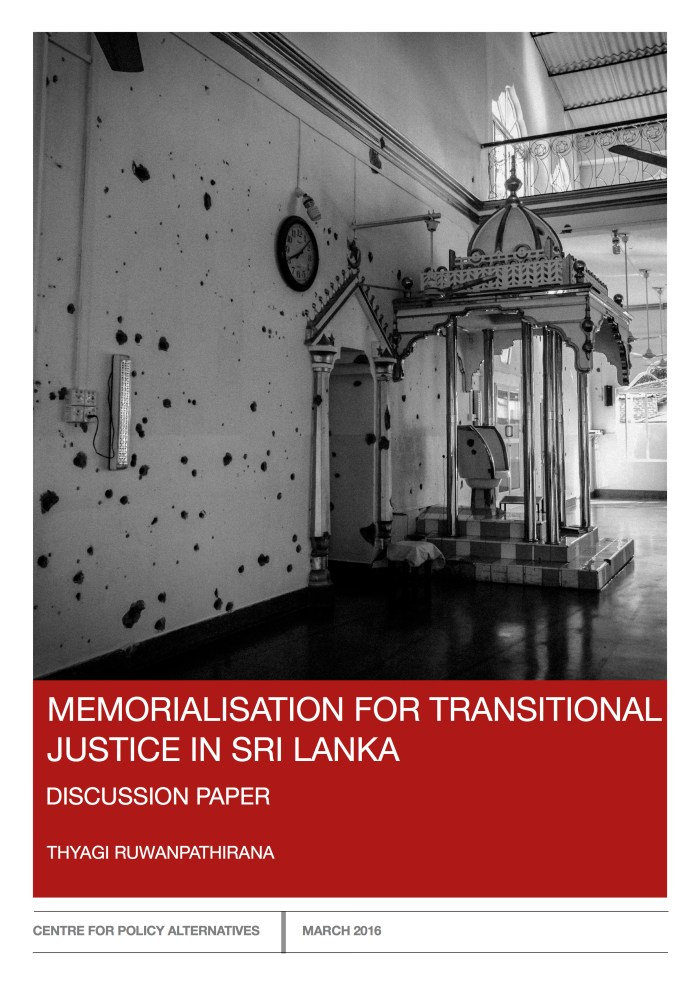 Memorialisation for Transitional Justice in Sri Lanka FINAL