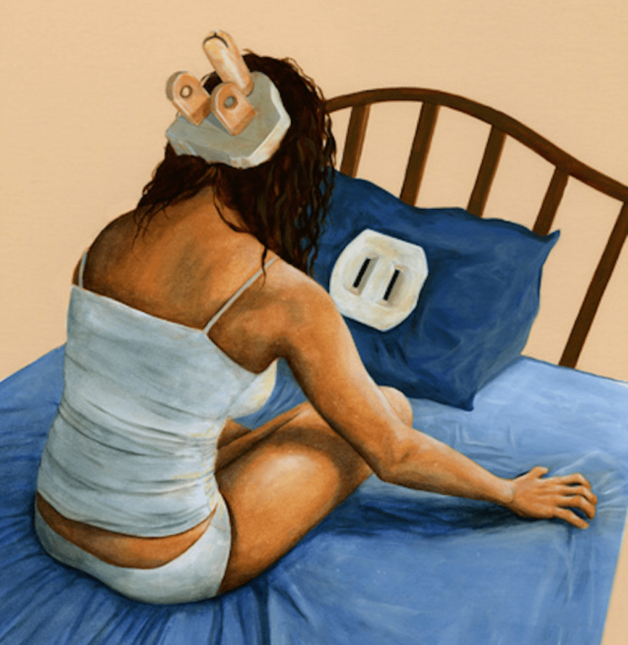Artist's rendition of insomnia