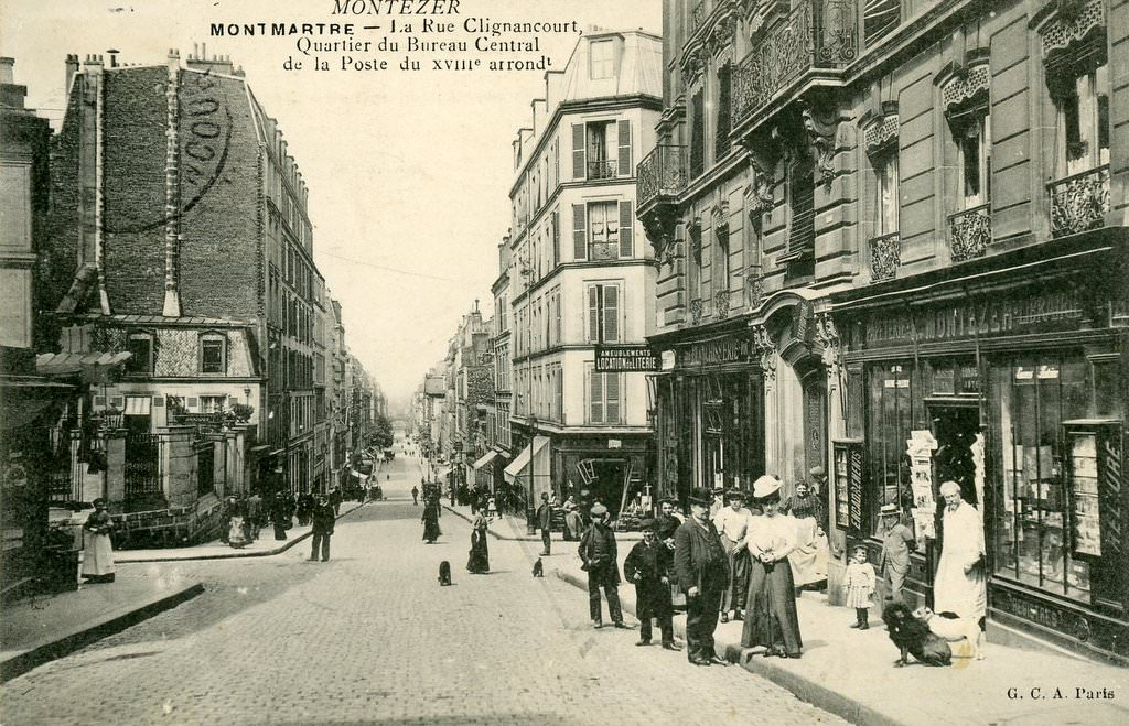 Paris Rue De Clignancourt Paris XVIIIe Arr Cartes