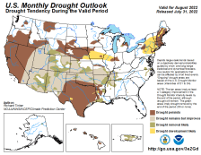 United States Monthly Drought Outlook Graphic - click on image to enlarge