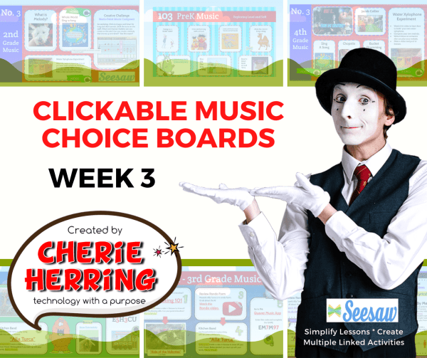 Image header for Music Choice boards week 3