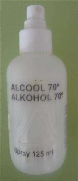 J'ai fait mon mélange et l'ai transvasé dans le contenant de l'alcool, étant donné que c'est un spray je trouvais pratique.