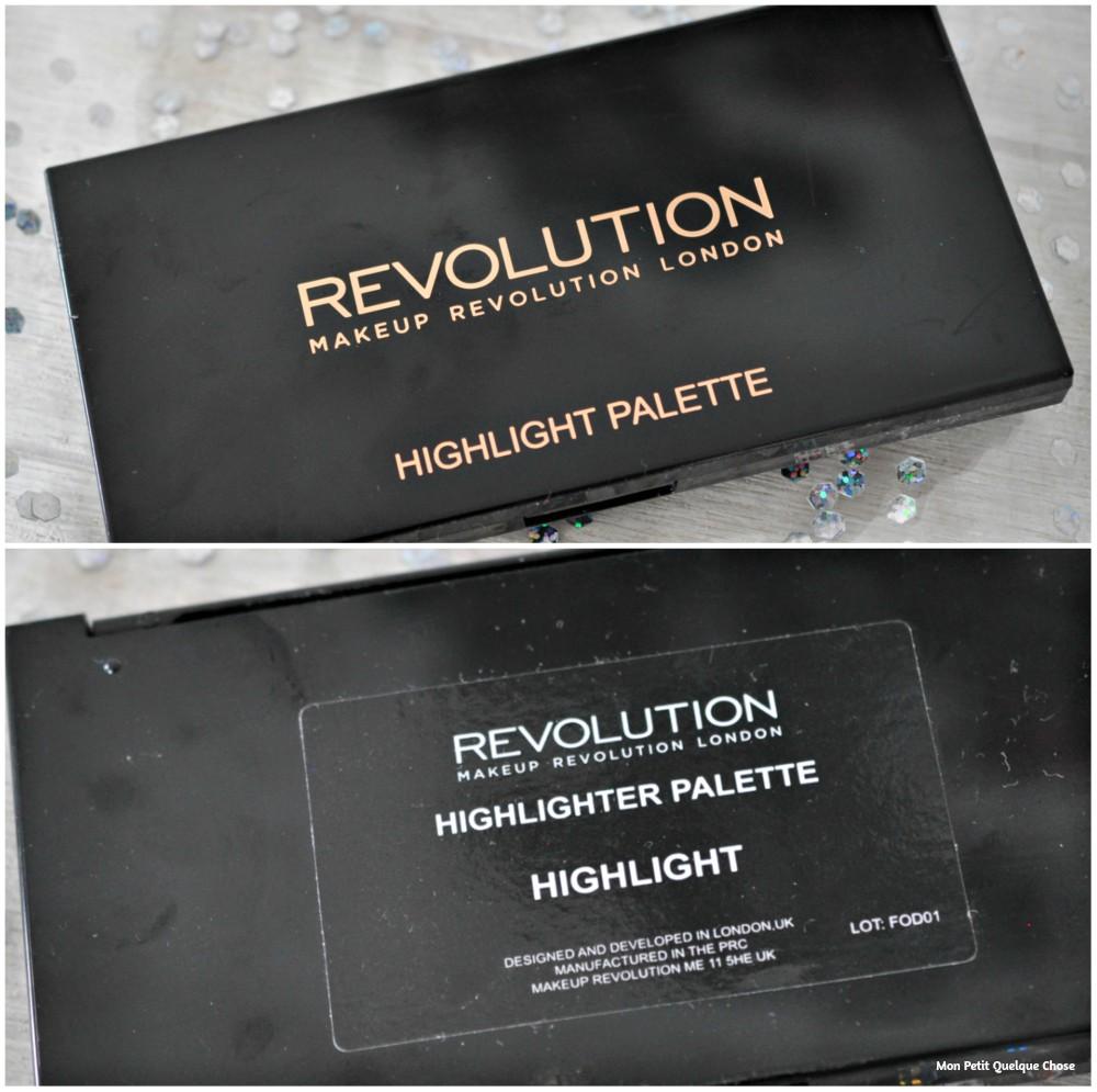 Highlight Palette de Makeup Revolution - Mon Petit Quelque Chose