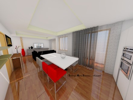 progettazione d'interni render fotorealistici