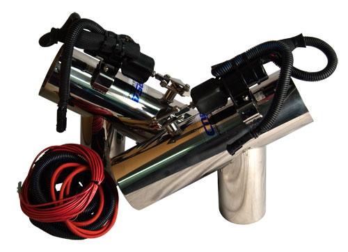 corsa captain s call exhaust diverter systems pre 2005 mercruiser 5 0l 6 2l small block chevrolet