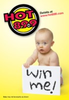 Hot 89.9 win a baby ad
