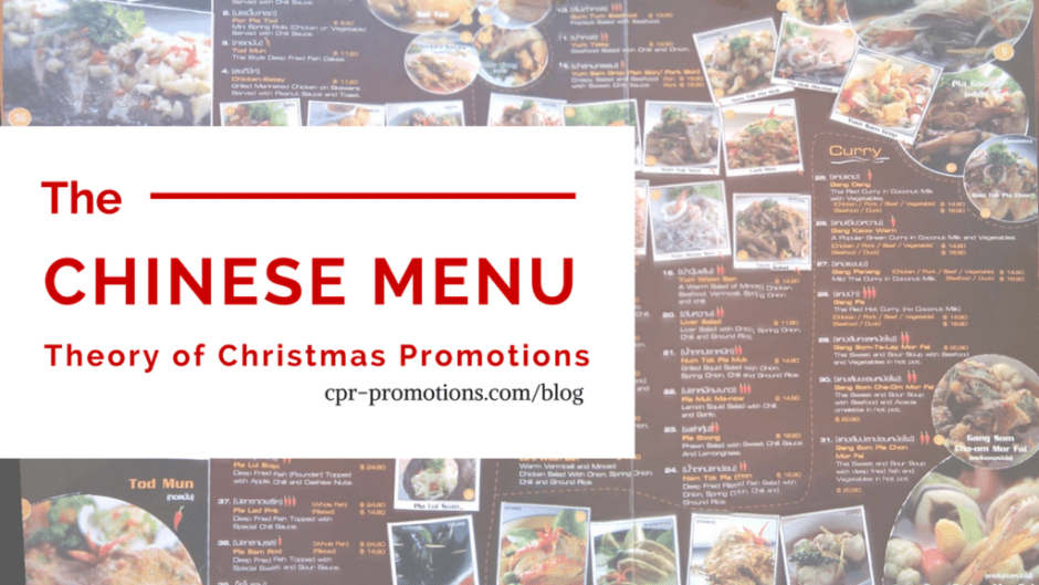 The Chinese Menu Theory of Christmas Radio Promotions