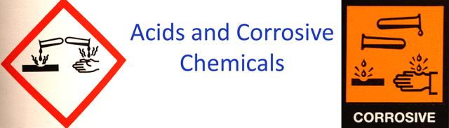 acid and corrosive warnings