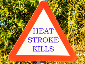 Warning sign for Heat Stroke