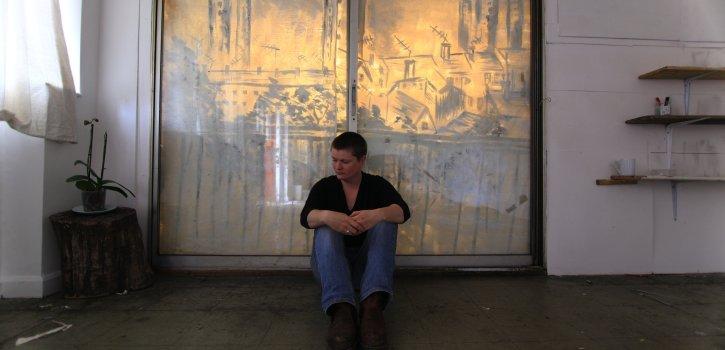 20B image, women sitting in an empty room