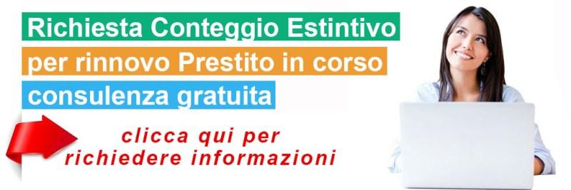 Richiesta Conteggio Estintivo, Rinnovo Prestiti, Rinnovo Cessione del Quinto, Rinnovo CQS,