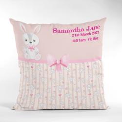 Baby Birth Cushion Cute Bunny Pink