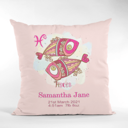 Baby Birth Cushion Picses Without Border Pink