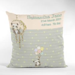 Baby Birth Cushion Cute Panda Cream