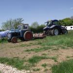 New tractor pulling old