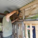 REFURBISHING THE WOOD BUNKER