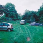 Campsite - tents in the orchard