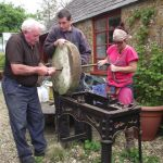 Putting together a feature – grinding stone