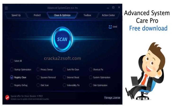 Advanced SystemCare Pro screen