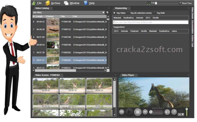 Fast Video Cataloger screen