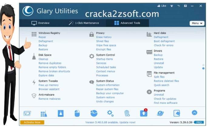 Glary Utilities Pro crack screenshot